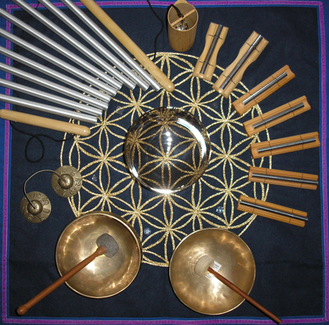 Klangreisen mit obertonreichen Planeten-Instrumenten